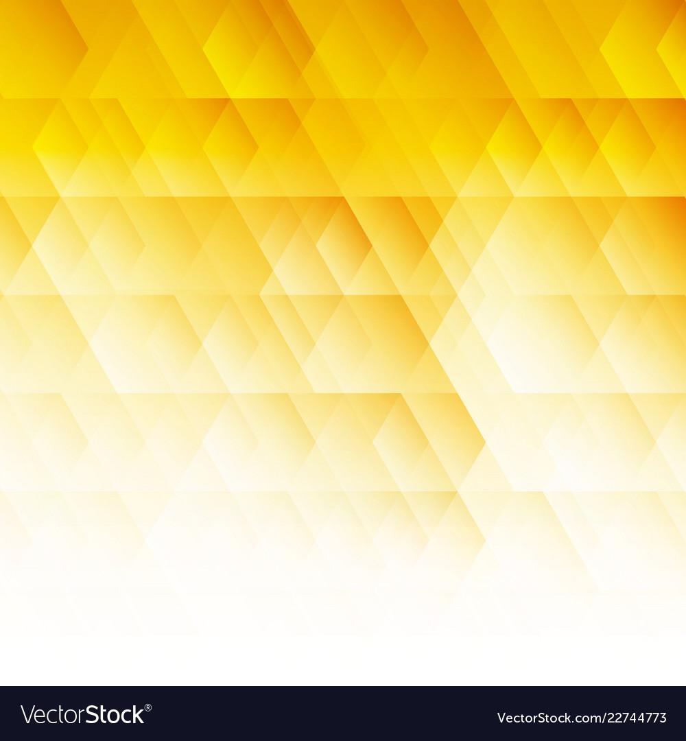 Abstract geometric hexagon pattern yellow