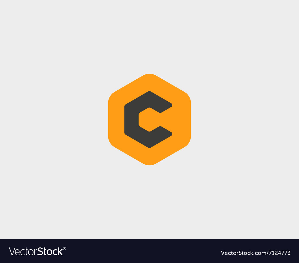 Abstract letter C logo design template Colorful vector image