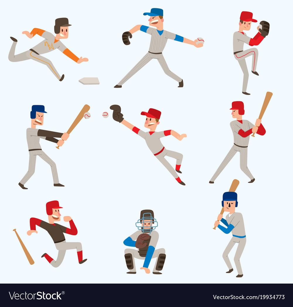 Baseball team players sport man in uniform
