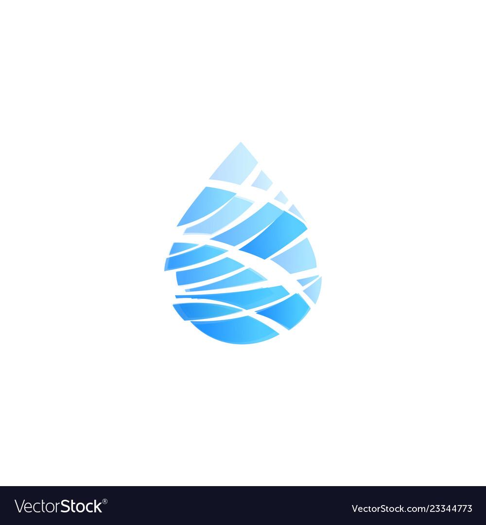 Blue drop cut into pieces ocean storm wave