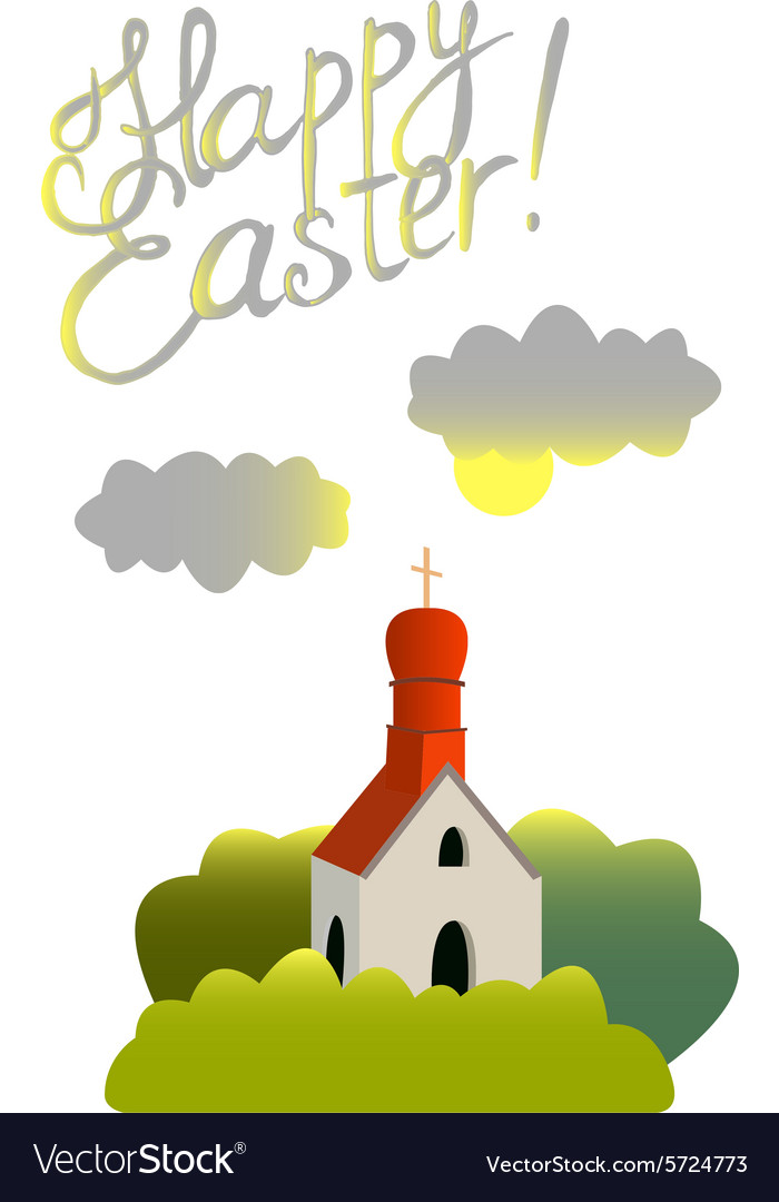 Devoted to the Easter vector image