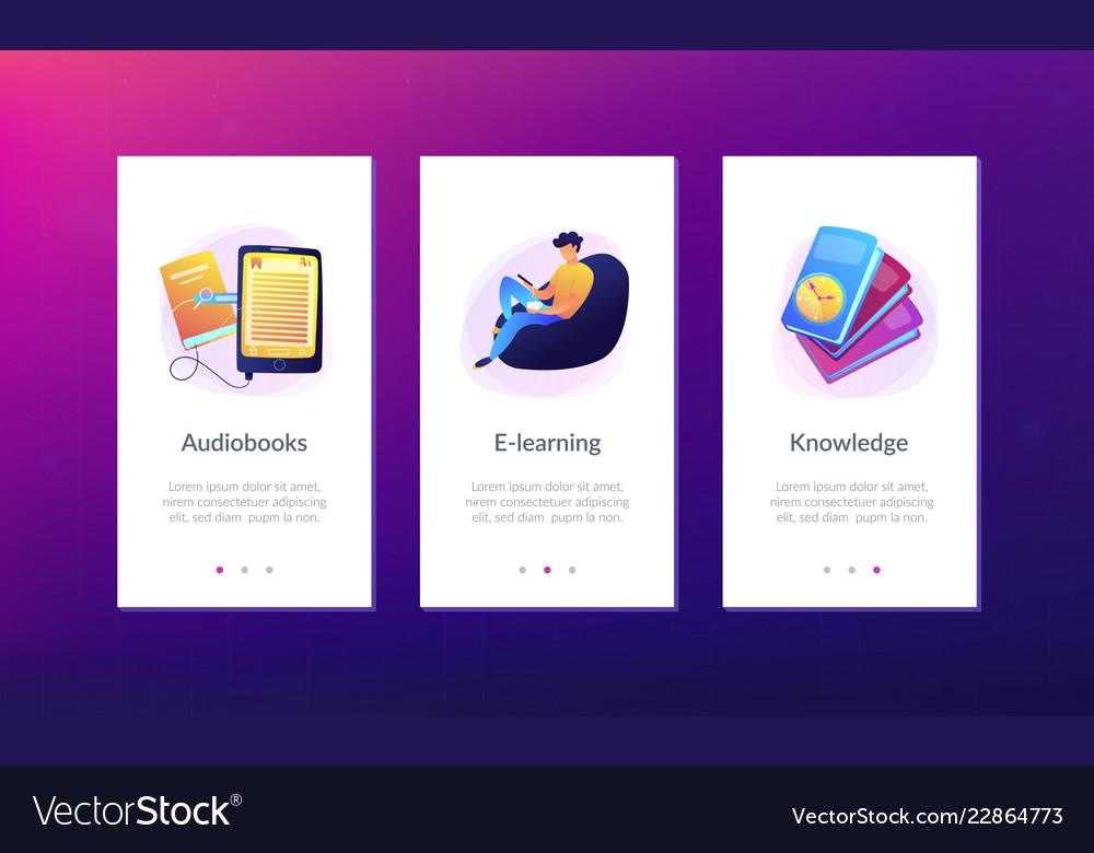 Ebook App Interface Template