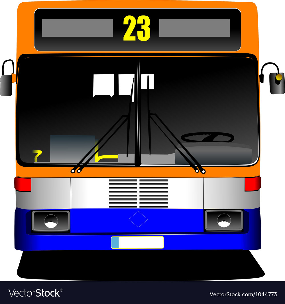 Public bus front