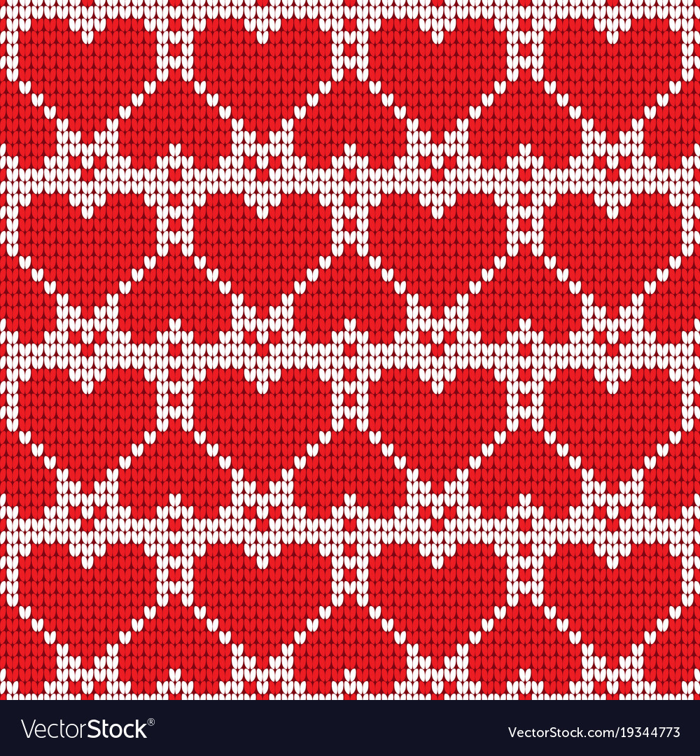 Valentines day love heart knitted seamless pattern