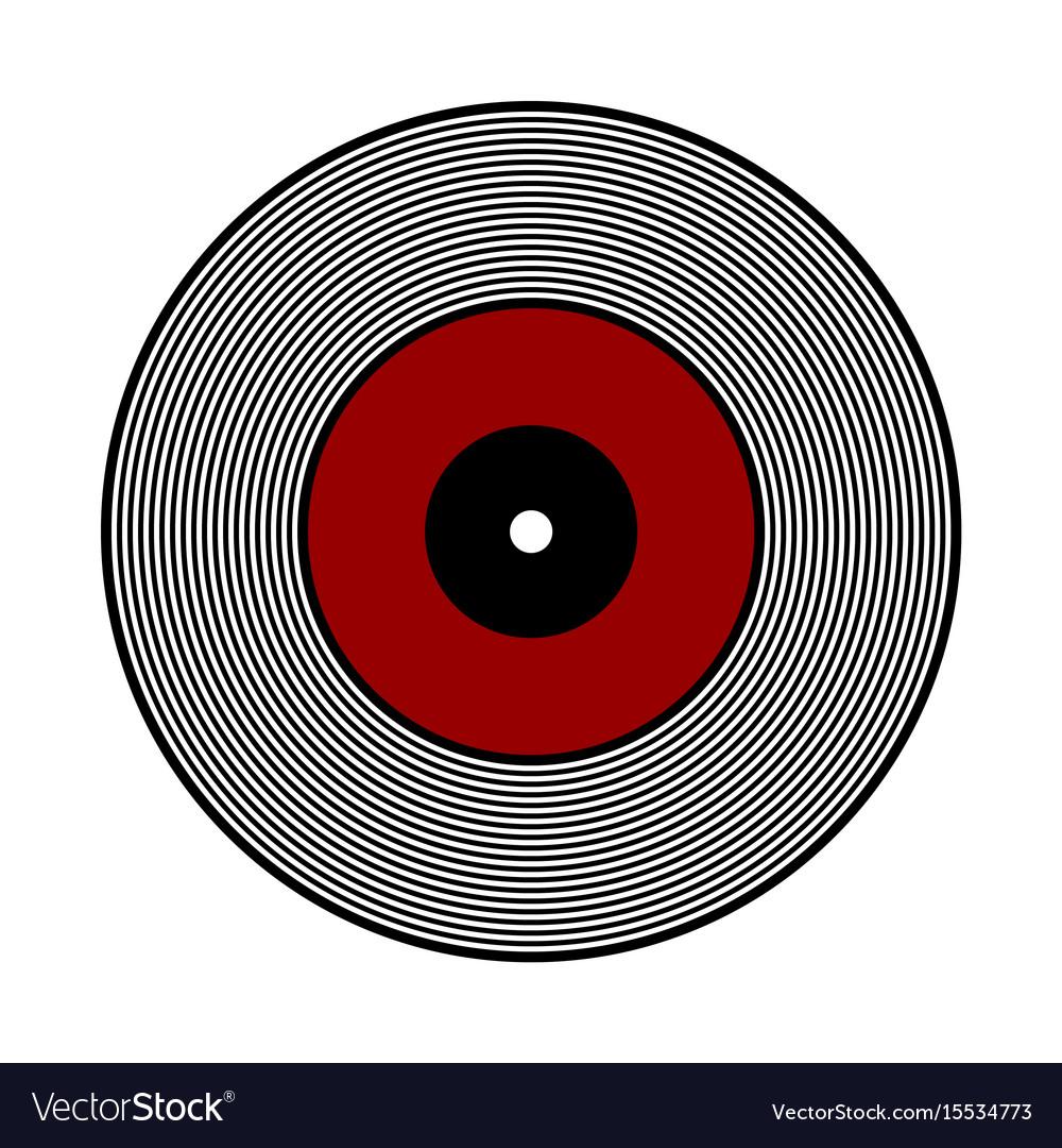 vinyl record icon royalty free vector image vectorstock rh vectorstock com vinyl vectoriel vinyl vector art