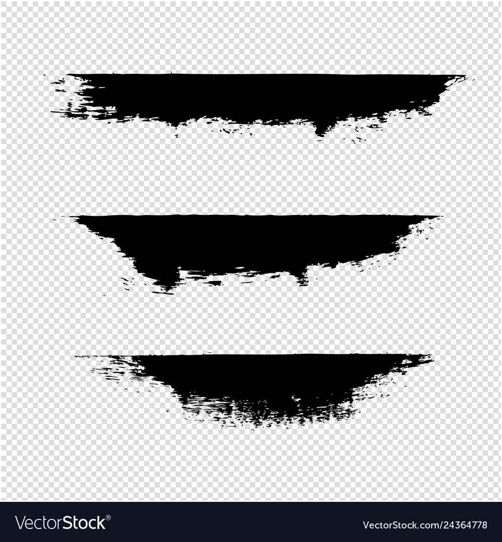 Black blobs isolated transparent background