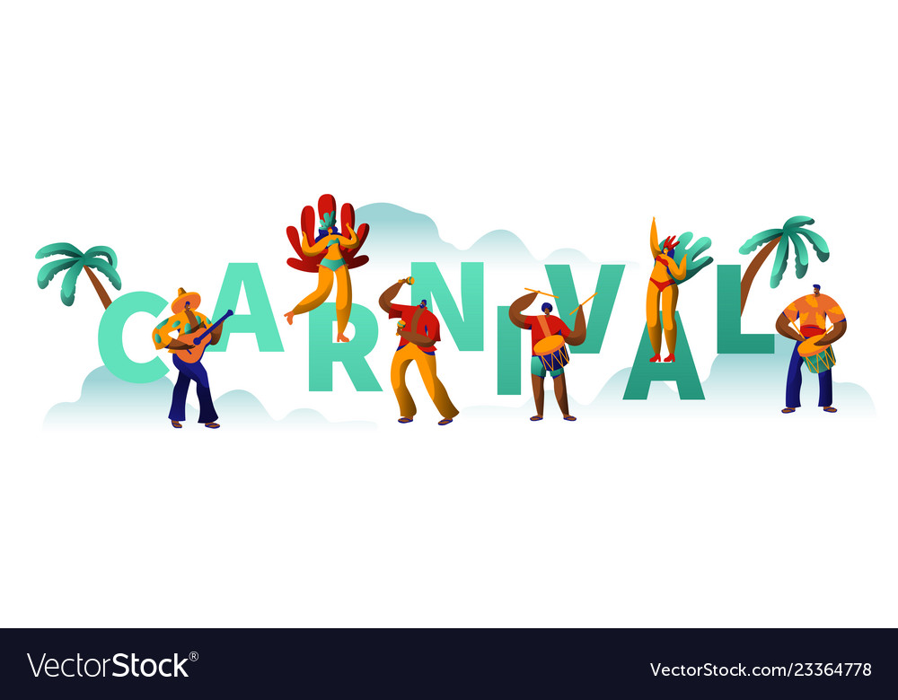 Brazilian carnival party character poster