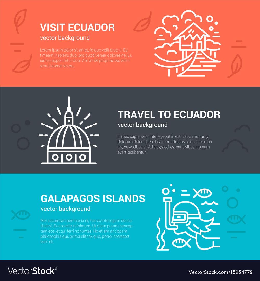 Ecuador flyer design vector image