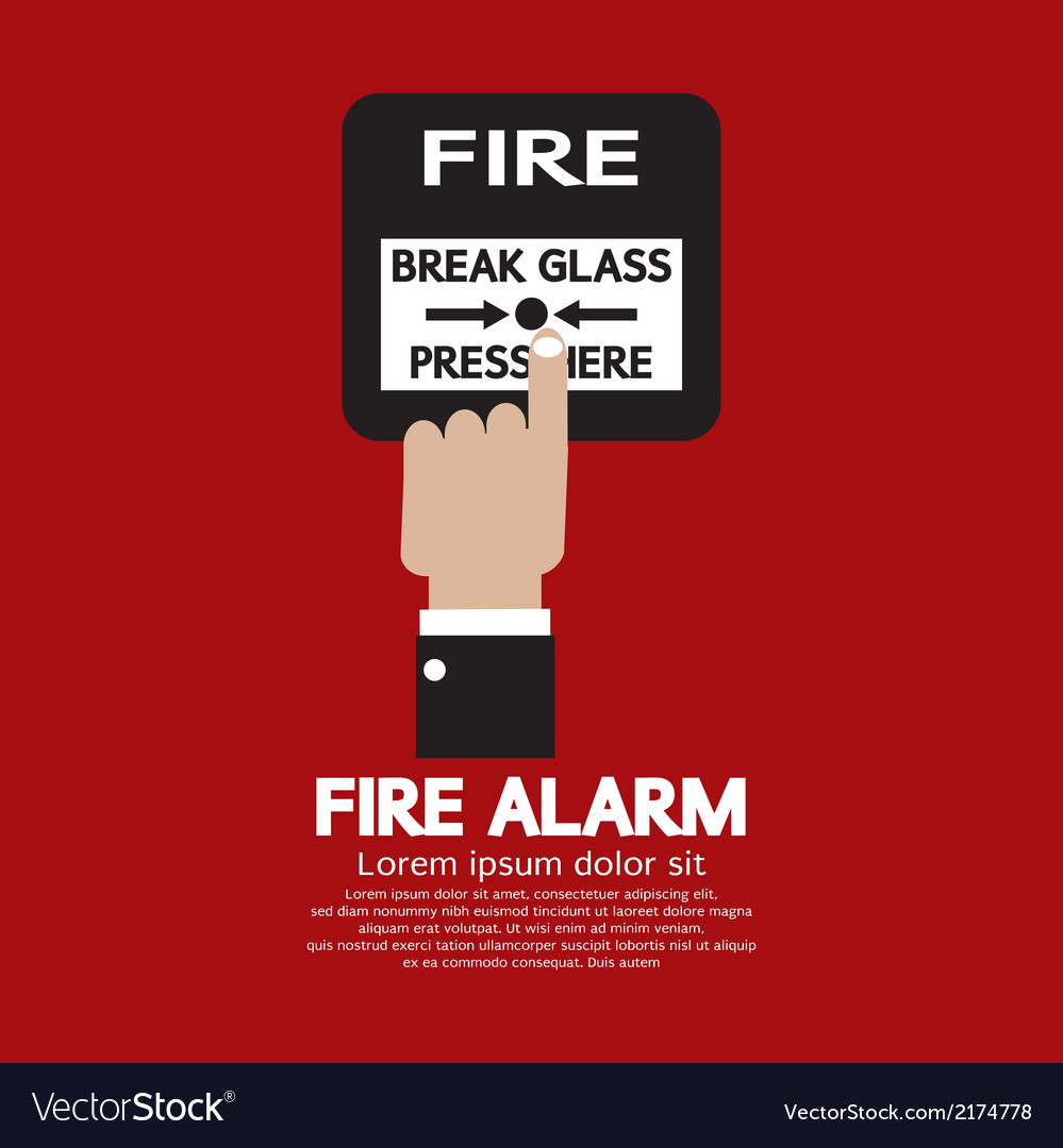Hand Push Fire Alarm Button