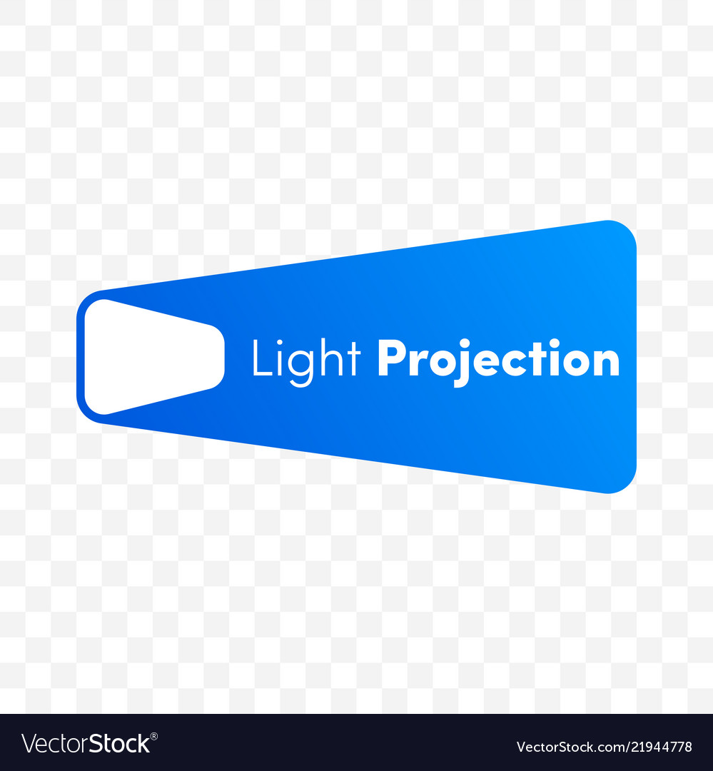 Innovations company light projection icon