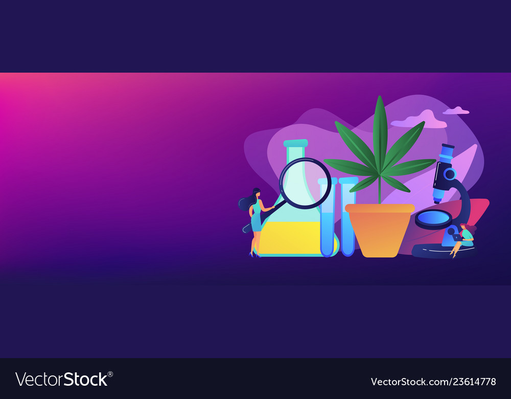 Marihuana products innovation concept banner