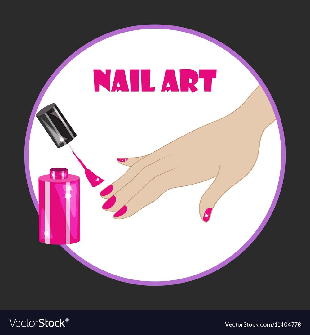 Nail Art Royalty Free Vector Image Vectorstock