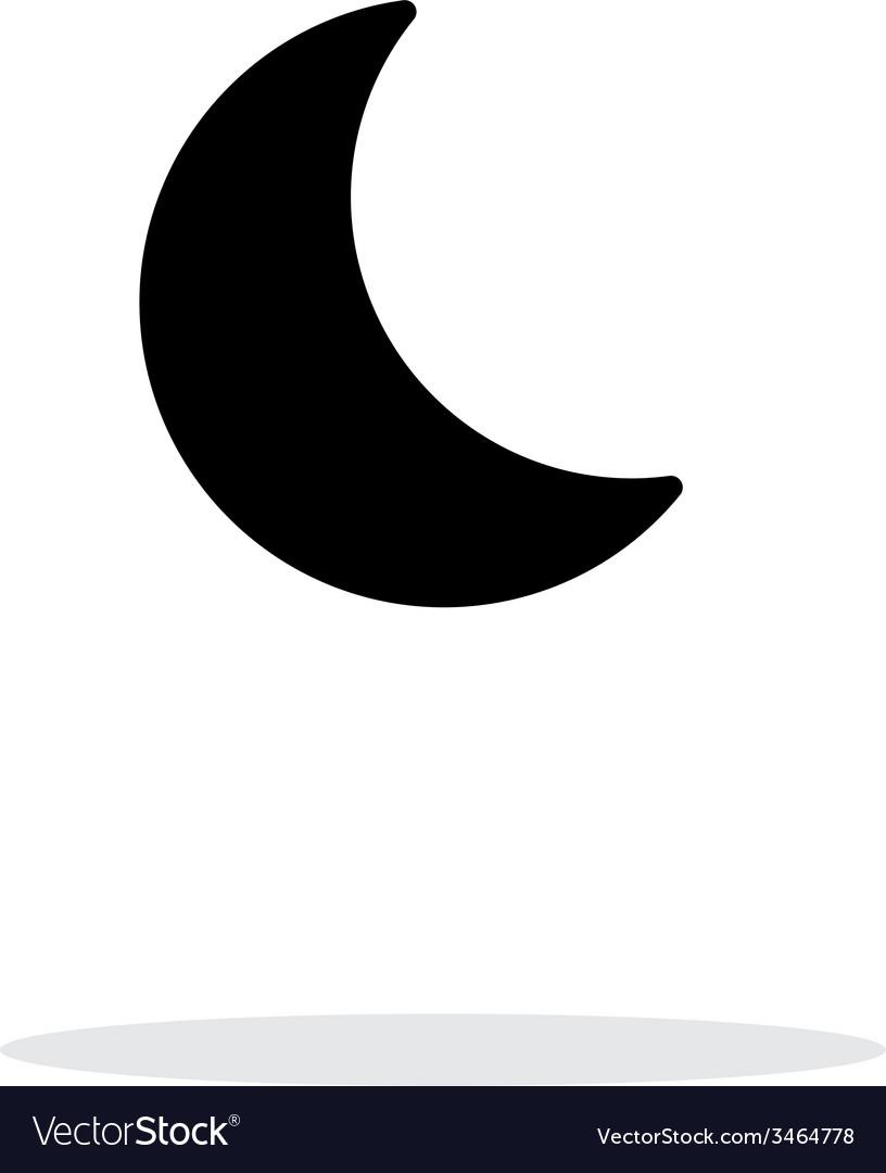 Night weather icon on white background