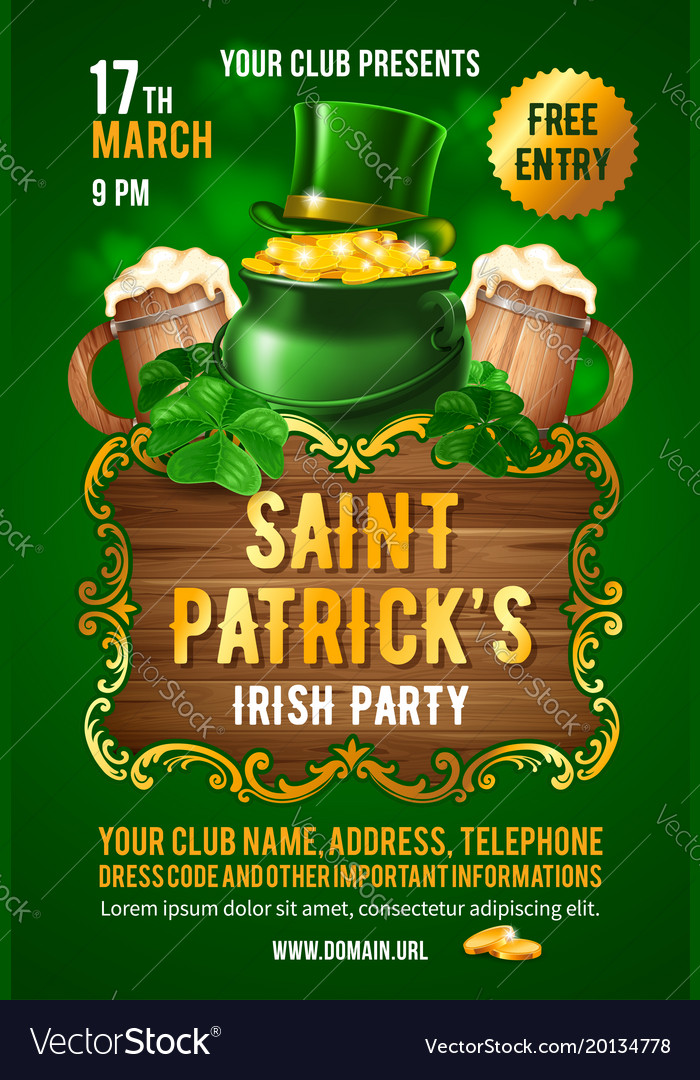 Saint patricks day invitation card design