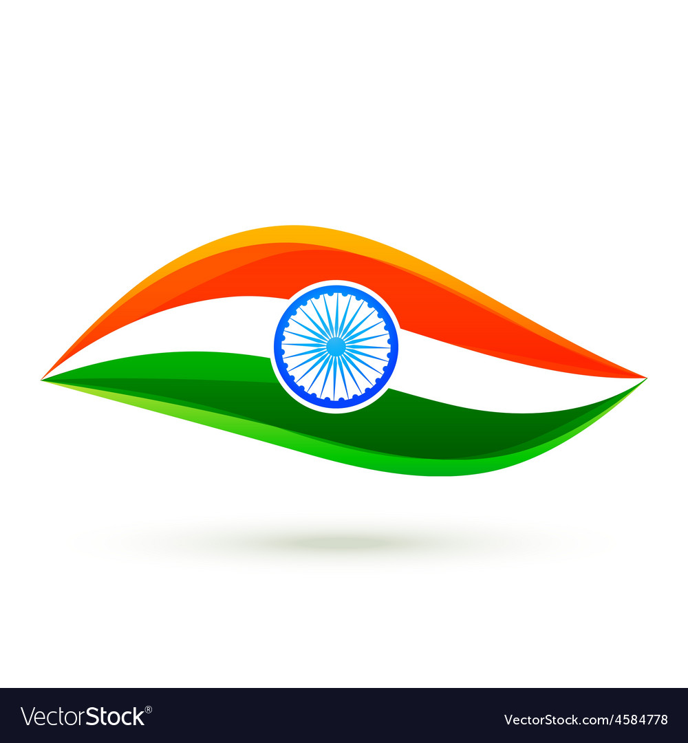 Simple indian flag style design vector image