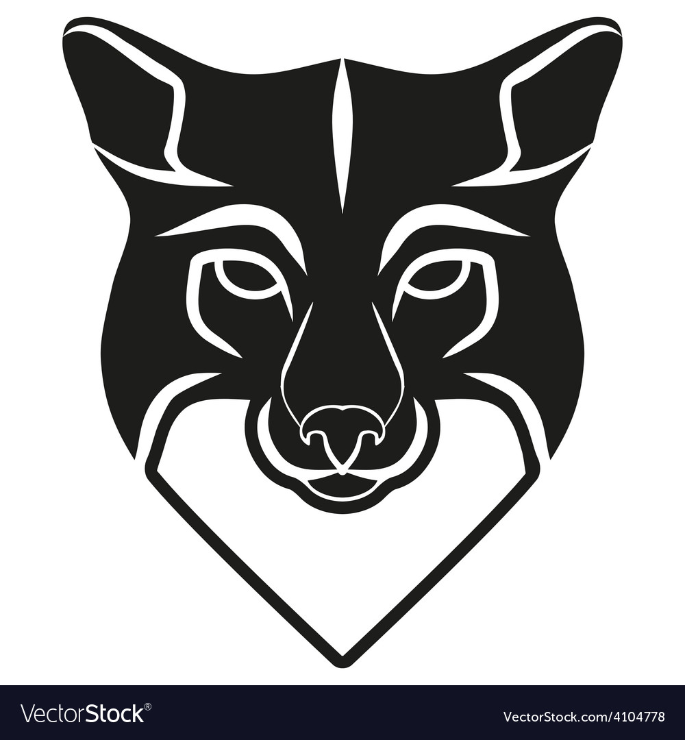Symbol Head Of The Old Fox Royalty Free Vector Image