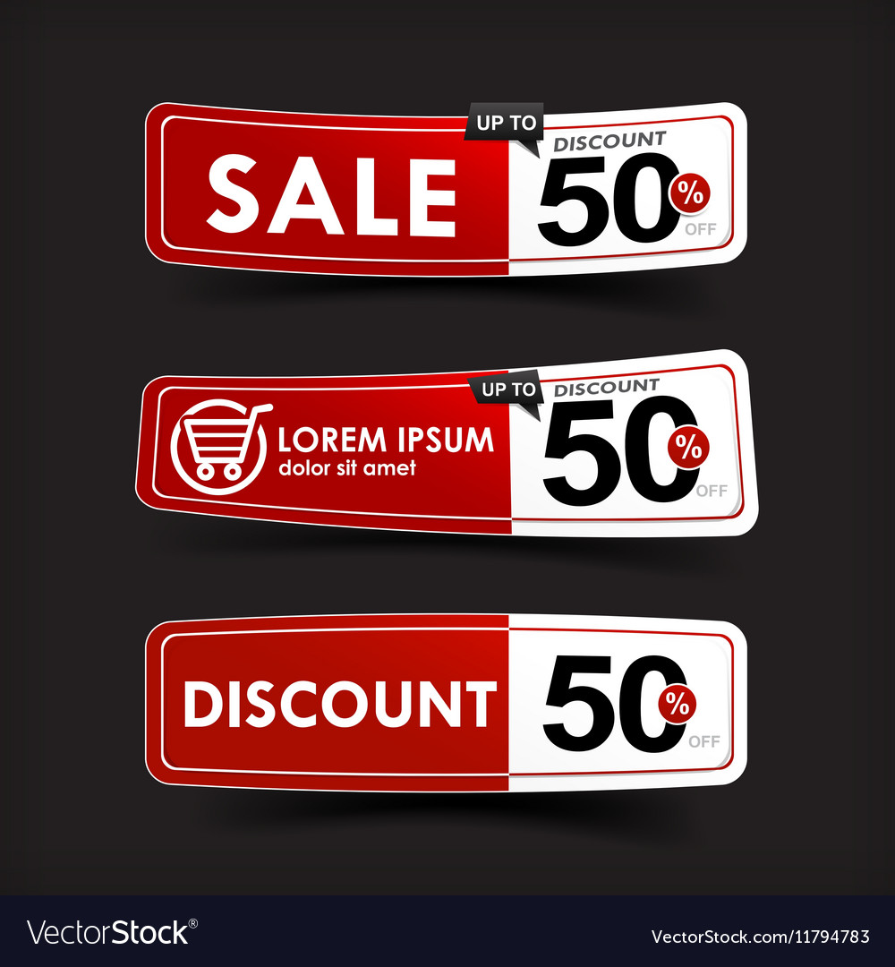 024 Collection of red and white web tag banner