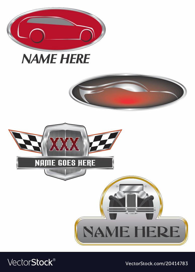 Auto Dealer Logos Royalty Free Vector Image Vectorstock