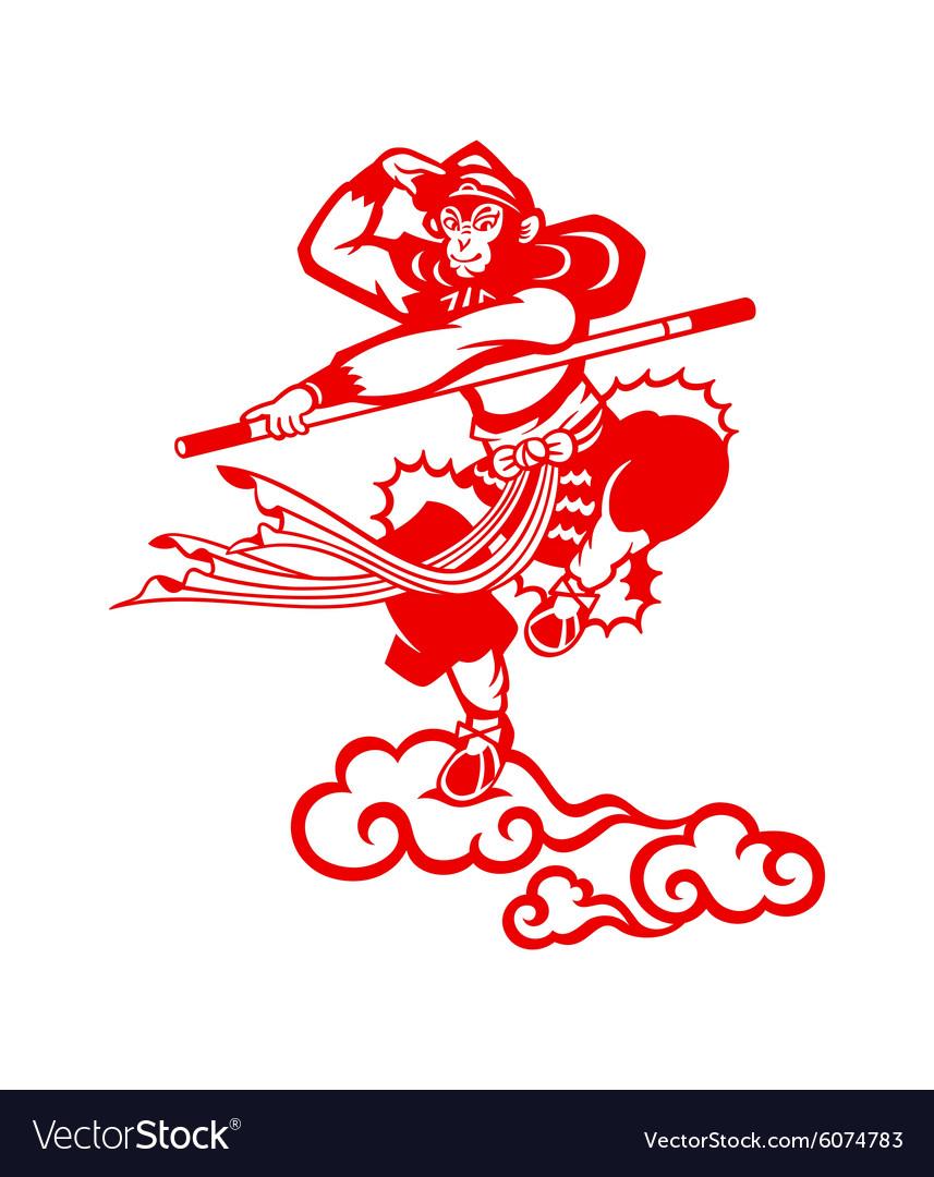 Chinese Monkey king vector image