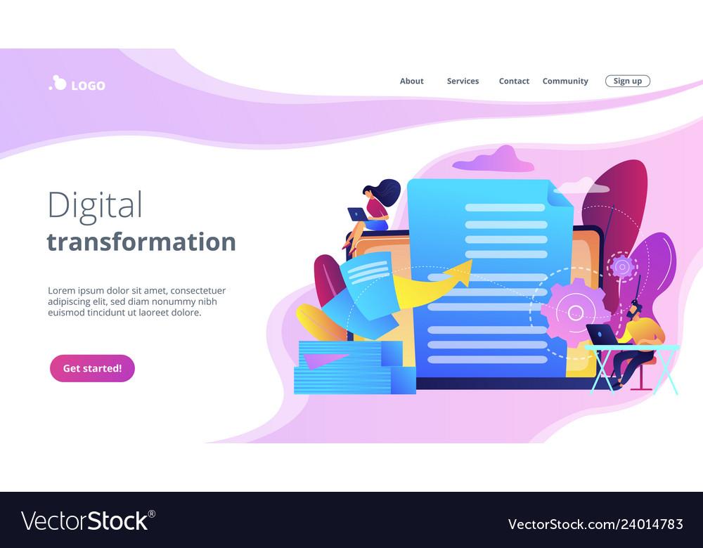 Digital transformation concept landing page