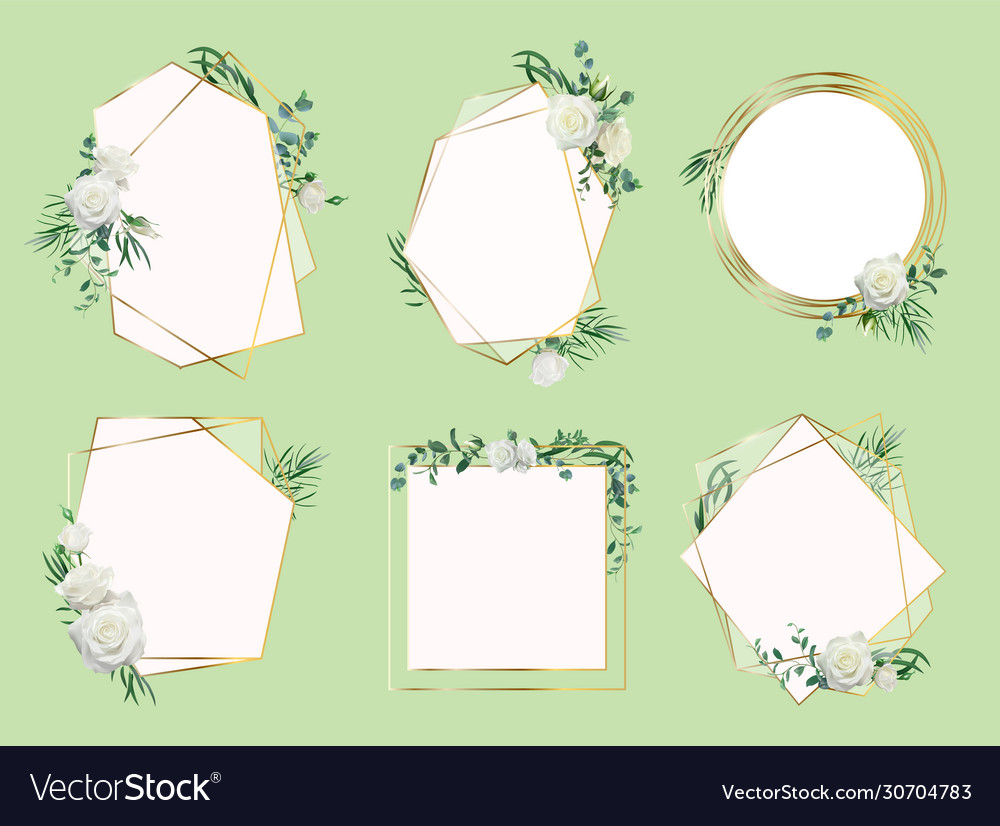 Flower wedding invitation border floral frames