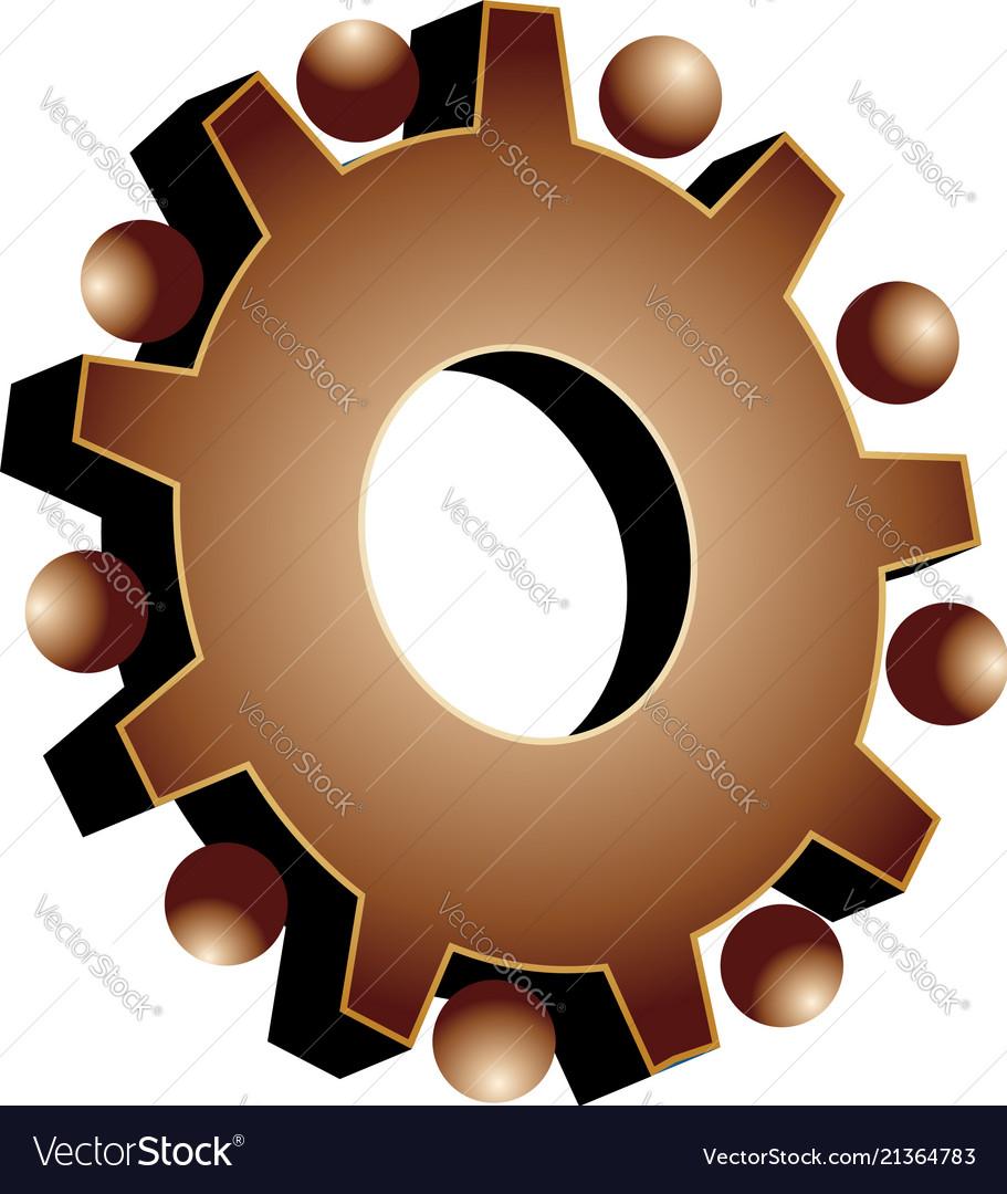Gear setting icon logo
