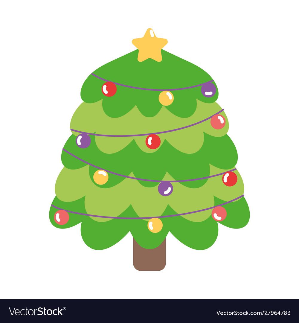 Merry christmas tree lights balls star decoration