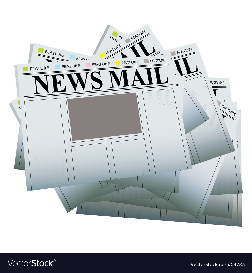 Newspaper pile vector image