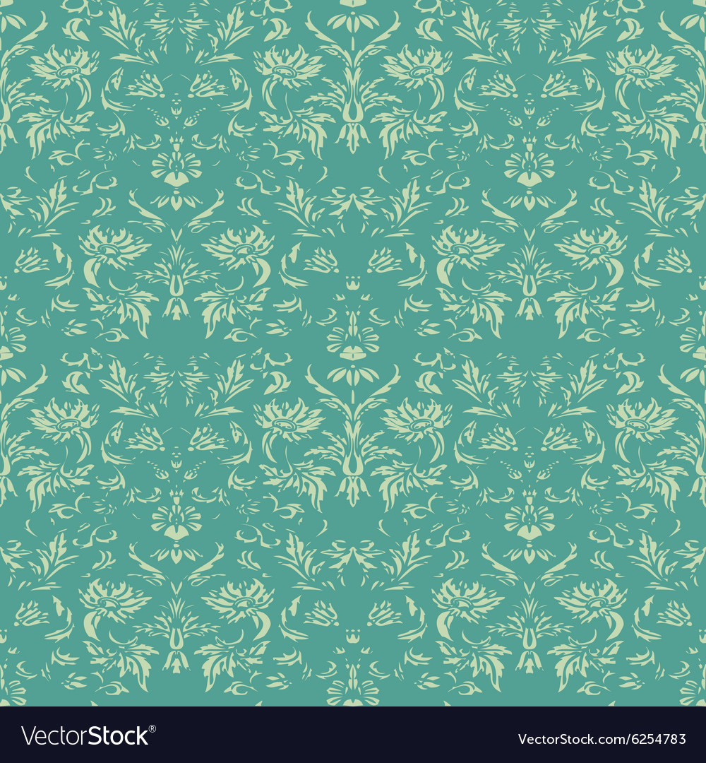 Seamless floral damask background