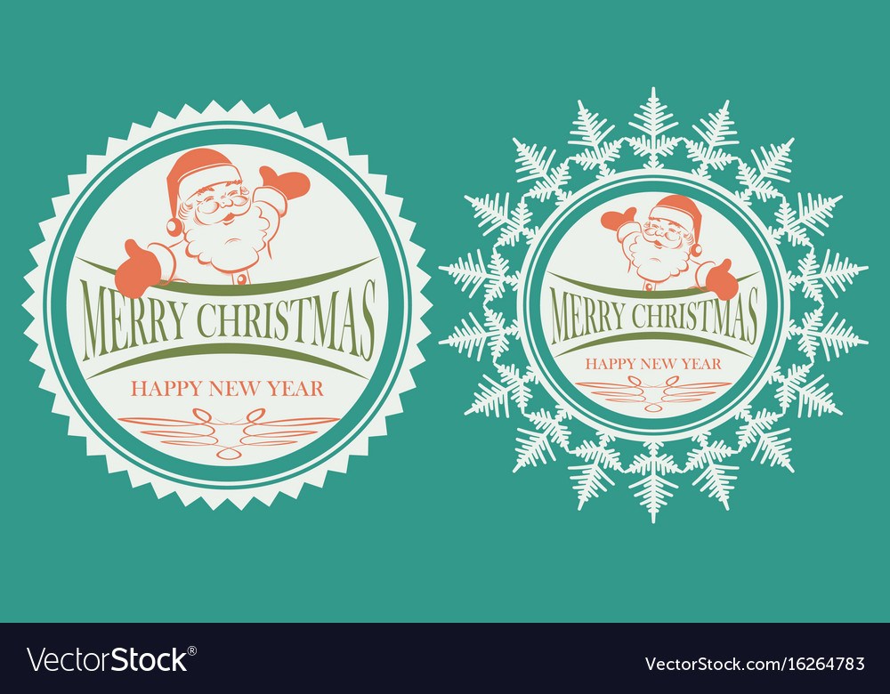 Sign with a silhouette of santa claus set