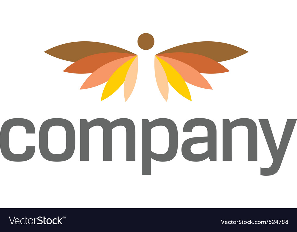 Angel wings logo for heaven vector image