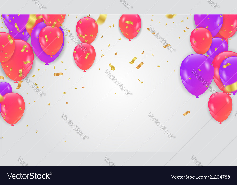 Balloons colored paper in flight isolated on a
