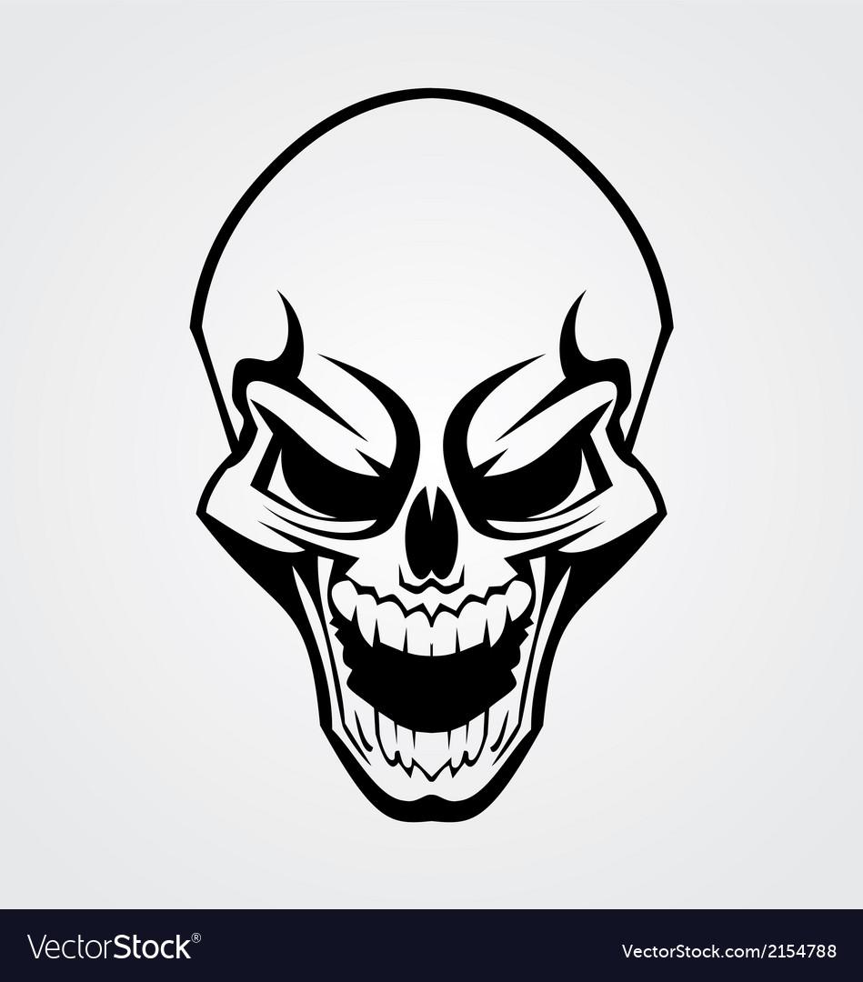 Black skull tribal