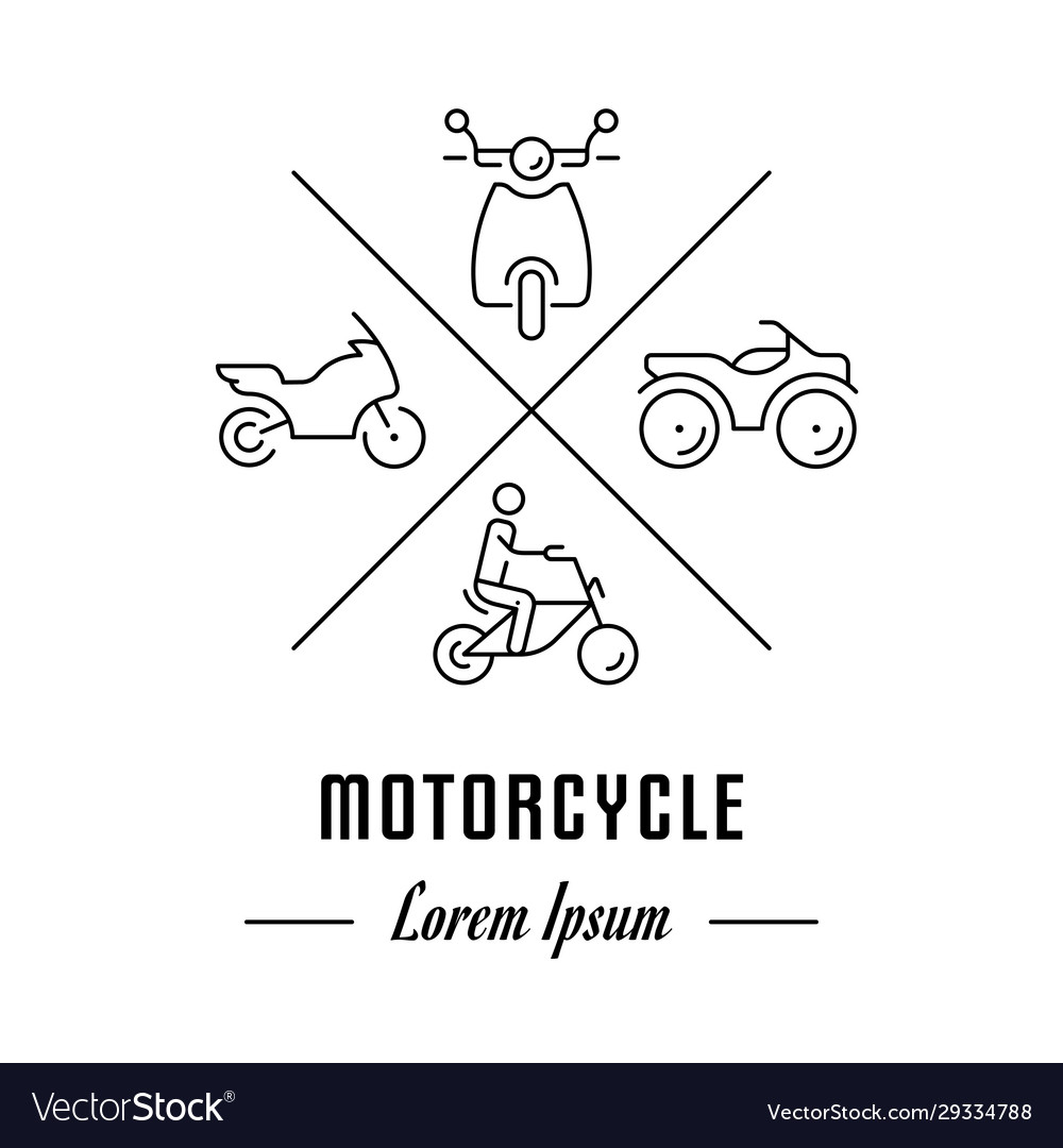 Line banner motorcycle