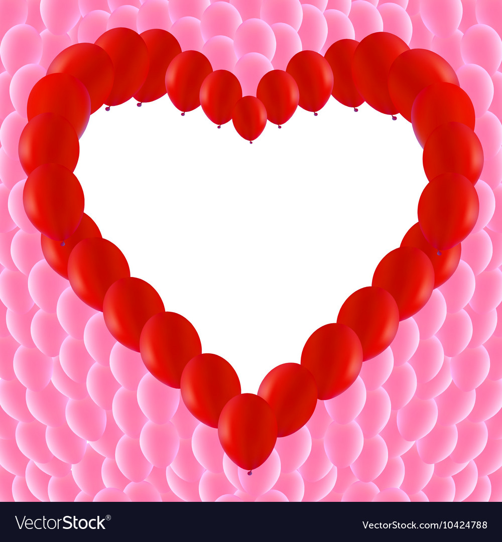 Love Heart Shaped Frame Royalty Free Vector Image