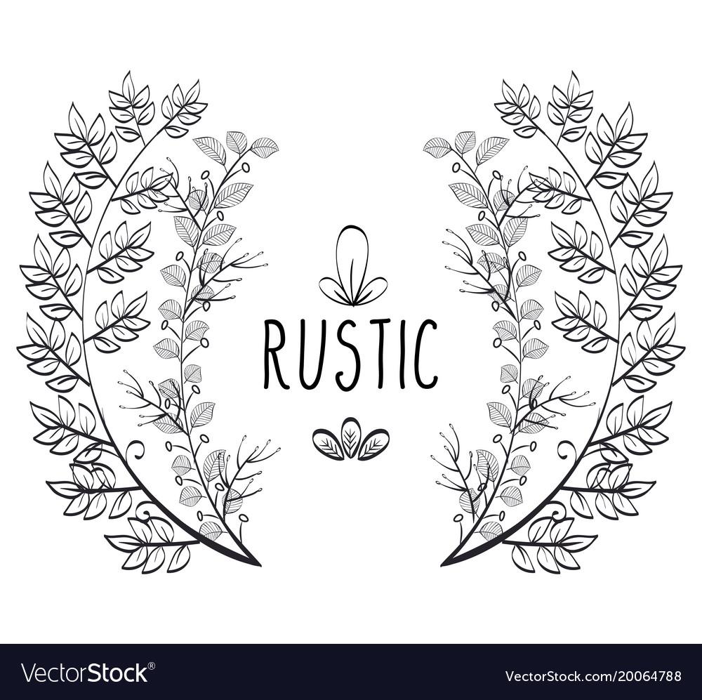Rustic Wreath Crown Icon Vector Image