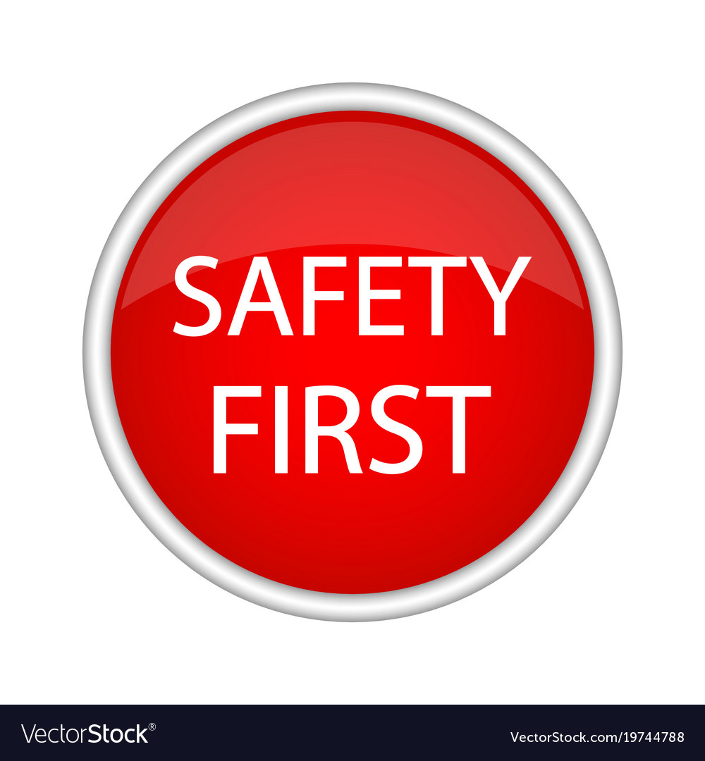 safety first icon royalty free vector image vectorstock