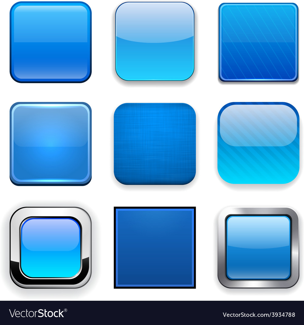 Square blue app icons
