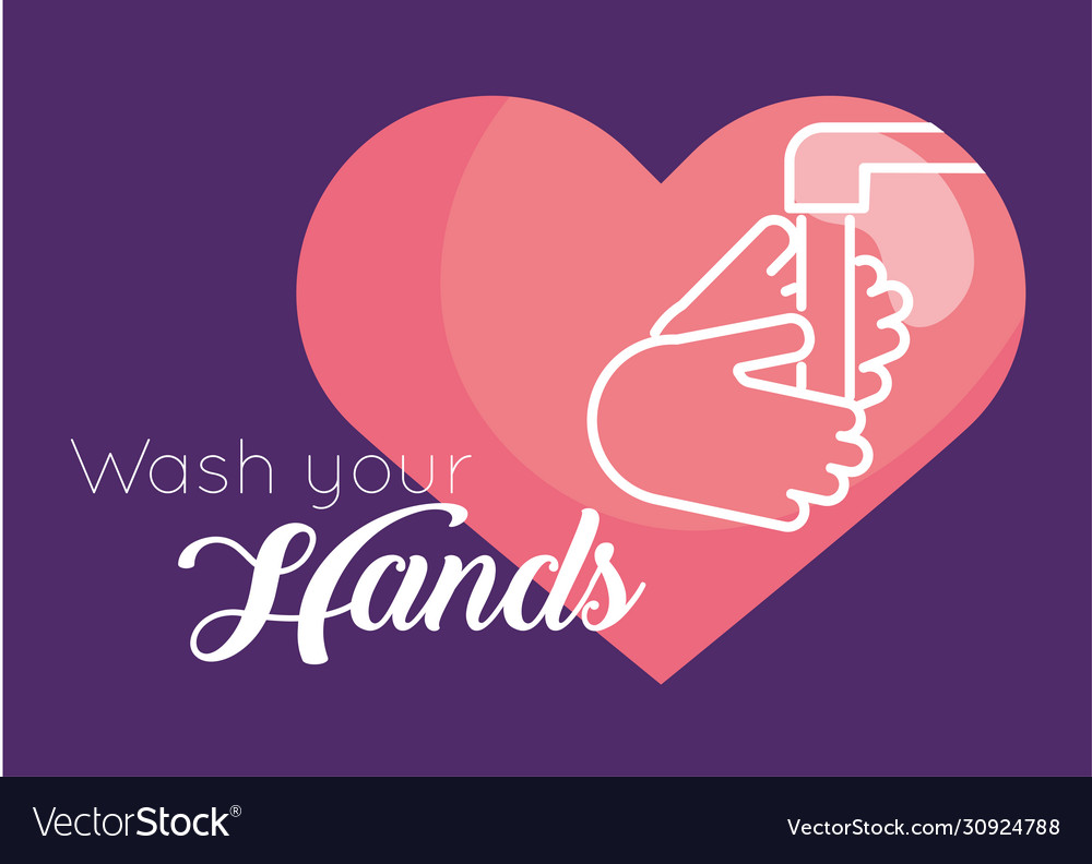 Wash hands message for covid19
