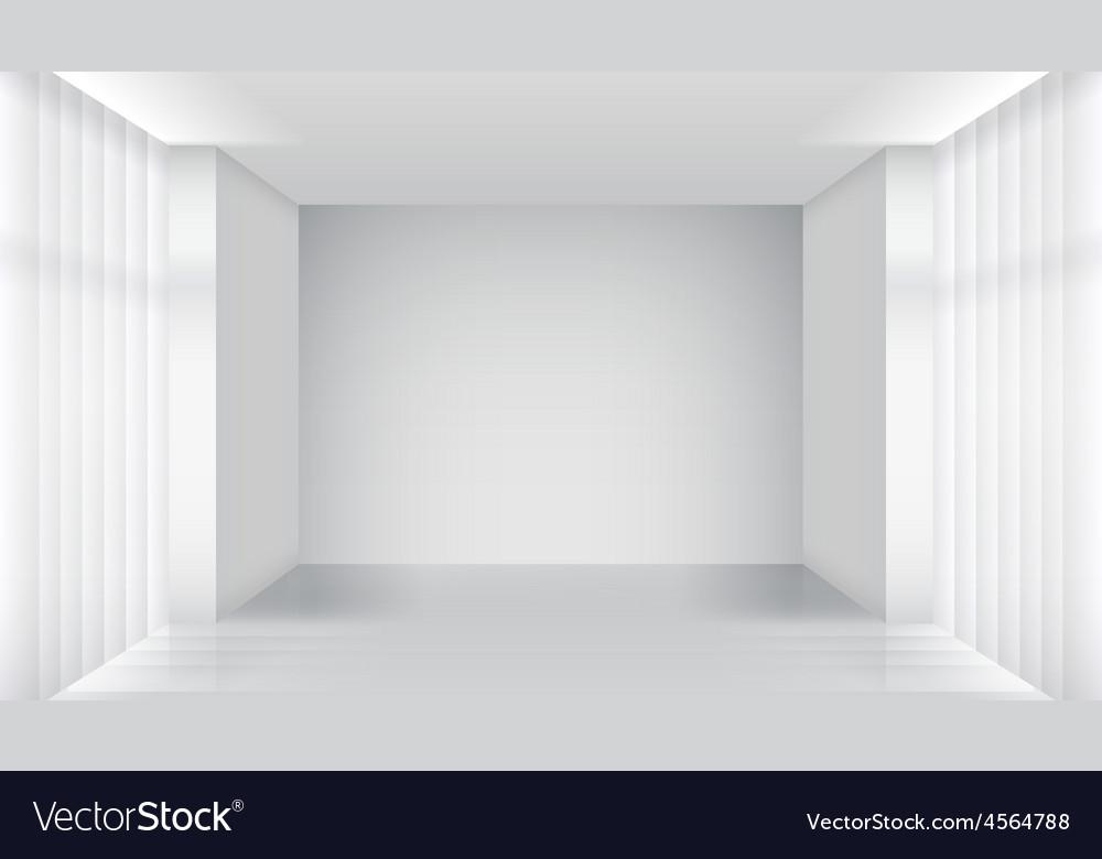 . White empty room interior