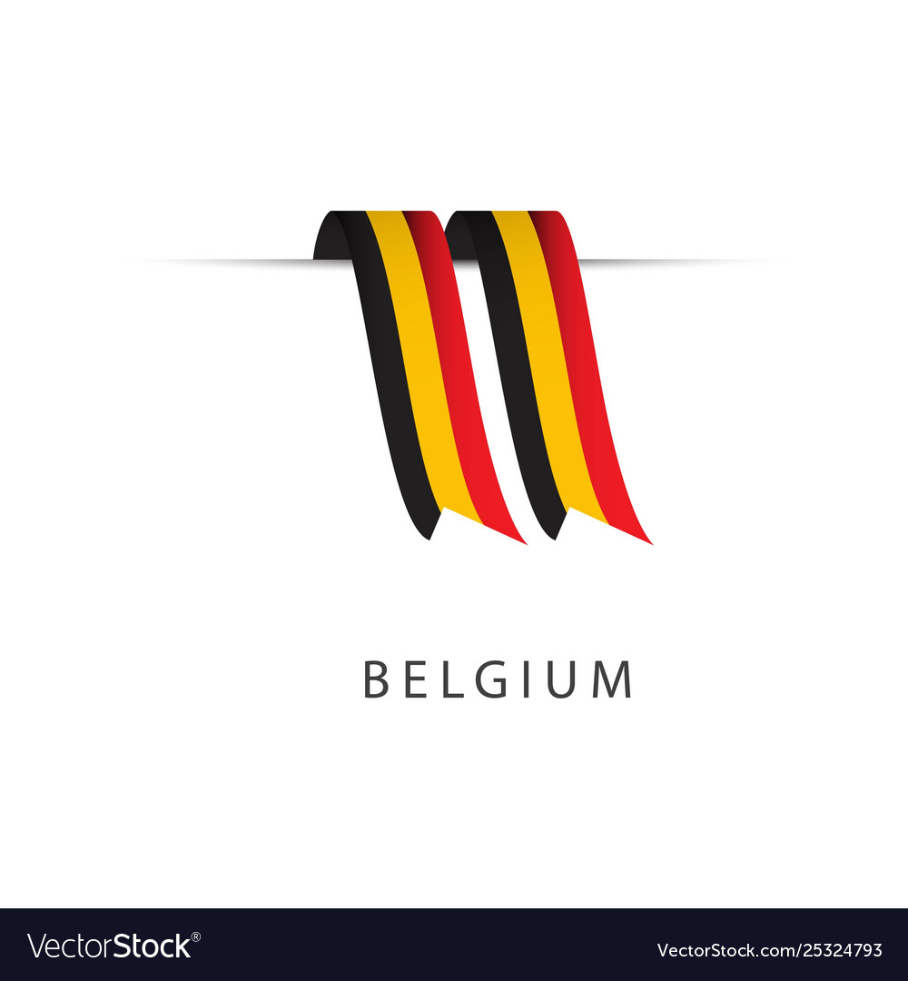 Belgium ribbon flag template design