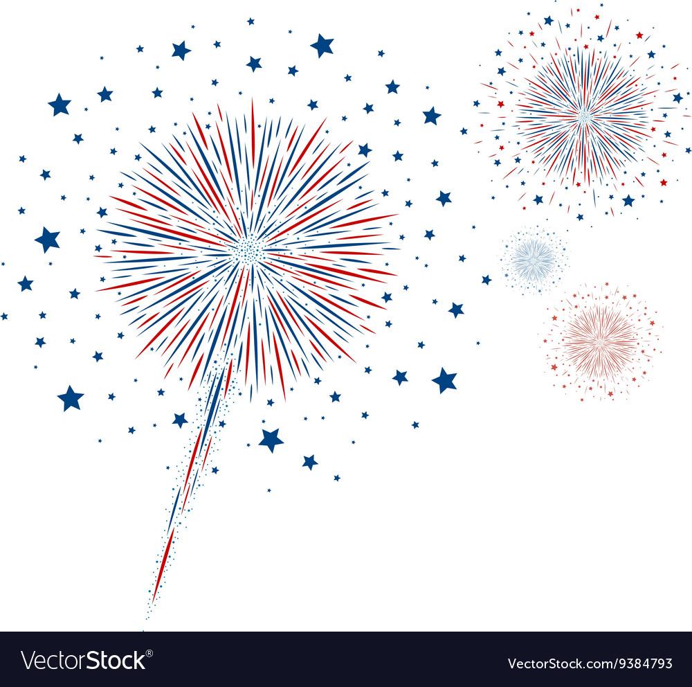 Fireworks design on white background Royalty Free Vector