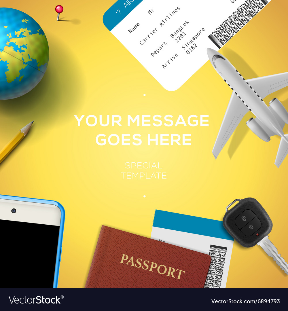 Preparation for travel phone ticket passport