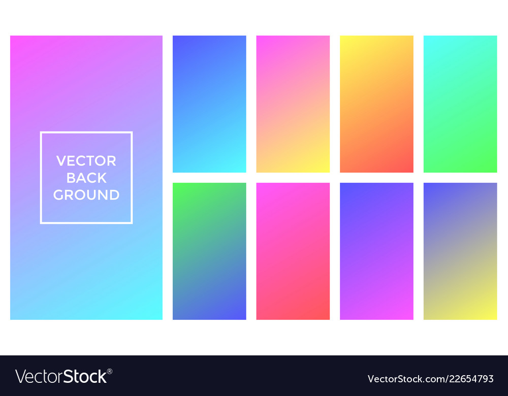 Soft colors background of gradient palette