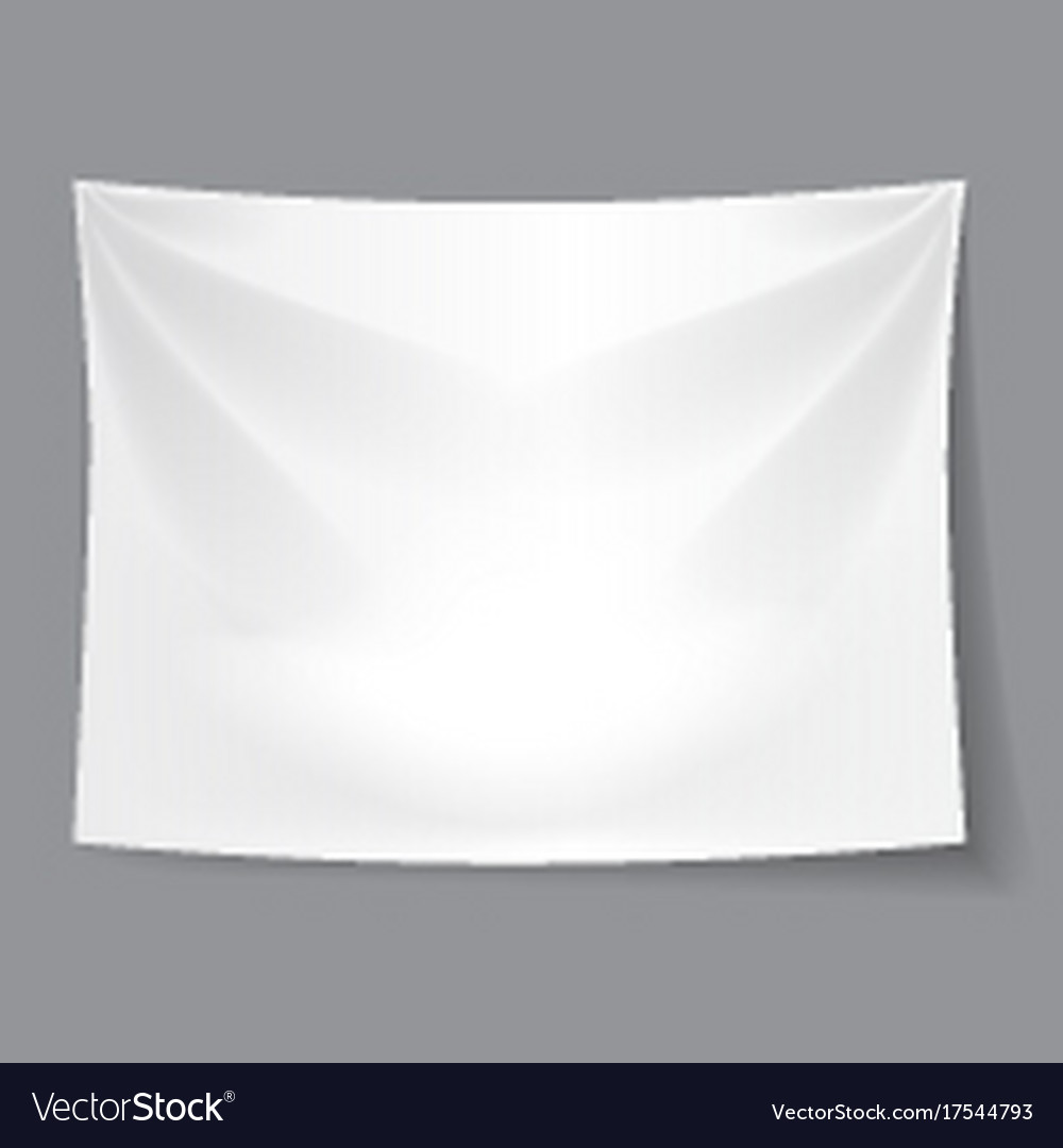 White blank fabric background banner