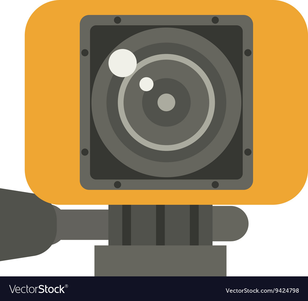 Action Camera in Yellow Case