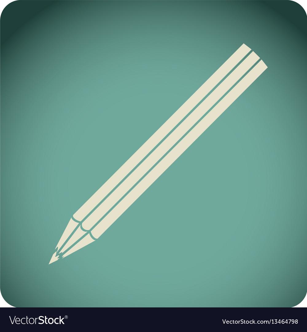 Blue emblem pencil icon