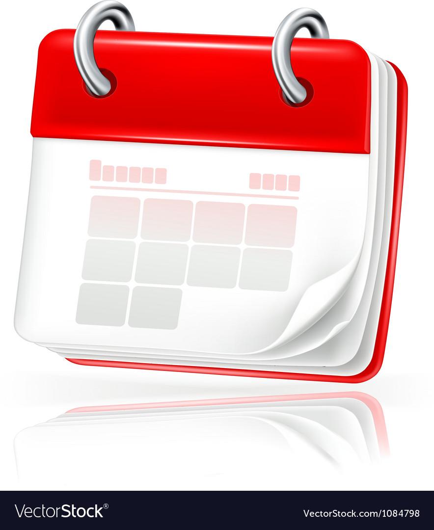 Calendar Design Free Vector : Calendar icon royalty free vector image vectorstock