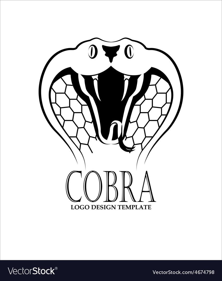 cobra logo design template royalty free vector image vectorstock
