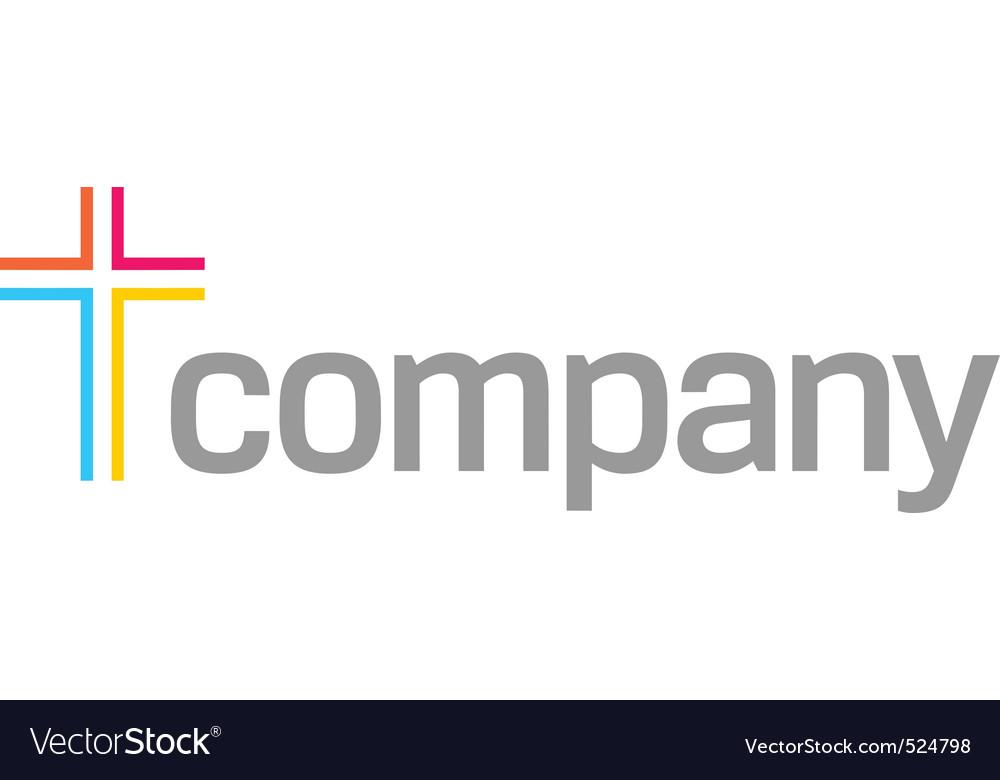 Colour cross logo for church